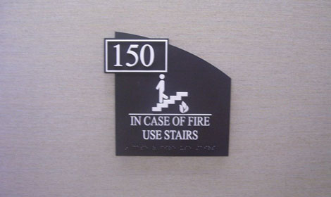 fire safety building sign