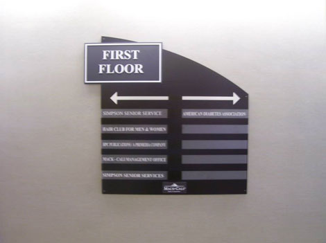 building floor layout directory sign