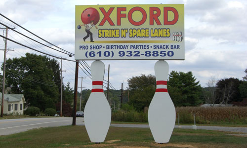 Custom business pole sign