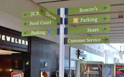 Wayfinding And Directional Business Signs
