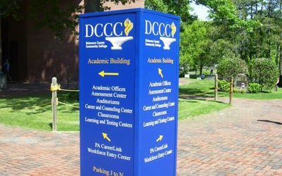 Custom outdoor directional signage